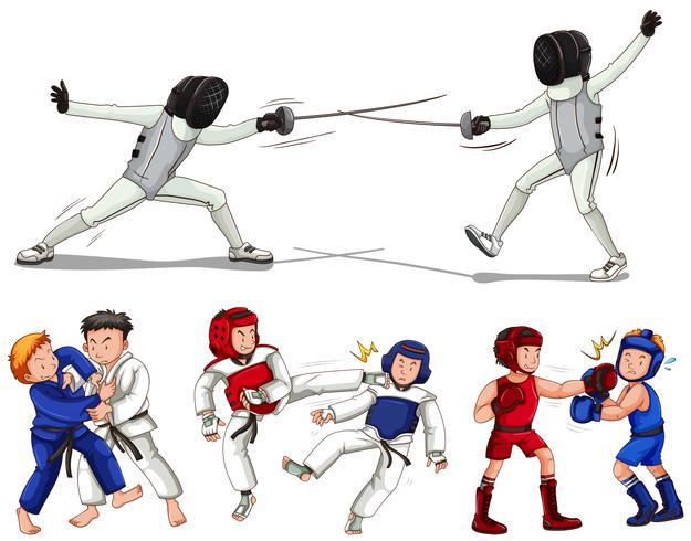 Artes Guerrera, Tipos de artes marciales