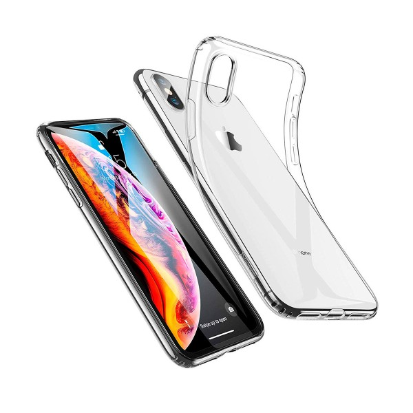 Akashi carcasa trasera transparente apple iphone xs max