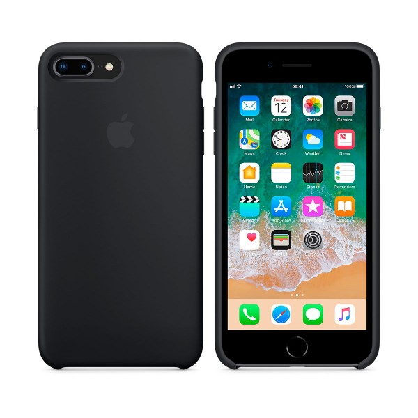 Apple mqgw2zm/a negro carcasa de silicona iphone 8 plus/7 plus