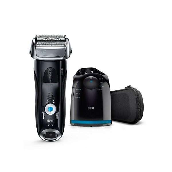 Braun 7880c negro serie 7 afeitadora eléctrica con estación de limpieza clean&charge y funda de viaje