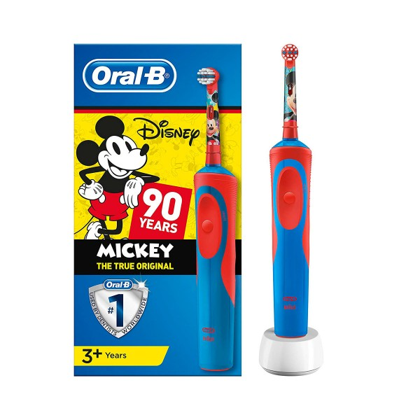 Braun oral-b stages power kids mickey mouse cepillo de dientes eléctrico infantil con tecnología 2d temporizador musical y disney magictimer