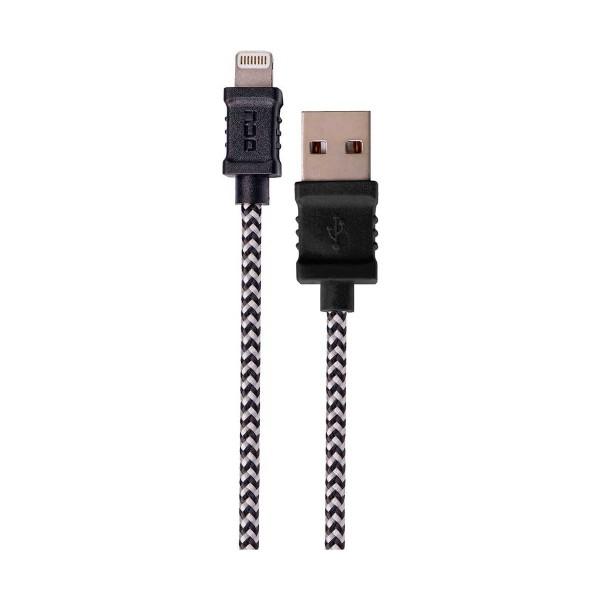 Dcu cable negro lightning para iphone, ipad e ipod a usb 1 metro