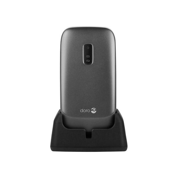Doro 6030 negro móvil senior 2.4'' cámara 0.3mp bluetooth radio fm micro sd incluye base de carga