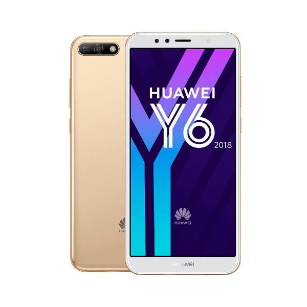 Huawei y6 (2018) dorado móvil 4g dual sim 5.7'' ips hd+/4core/16gb/2gb ram/13mp/5mp