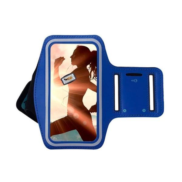 Jc brazalete deportivo azul resistente al agua para móviles de 5'' a 5.7''