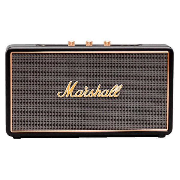Marshall stockwell negro altavoz portátil de alta caliad 27w rms bluetooth manos libres entrada aux y usb