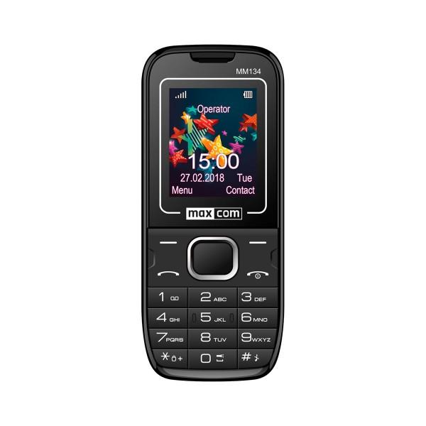 Maxcom classic mm134 negro móvil senior dual sim 1.77'' cámara de fotos ranura microsd