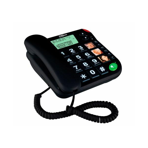 Maxcom kxt-480 negro teléfono fijo teclas grandes 3 memorias
