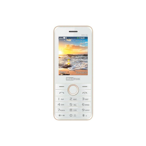 Maxcom mm136 blanco champán móvil dual sim 2.4'' bluetooth