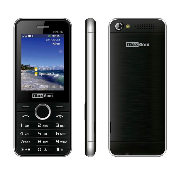Maxcom mm136 negro móvil dual sim 2.4'' bluetooth