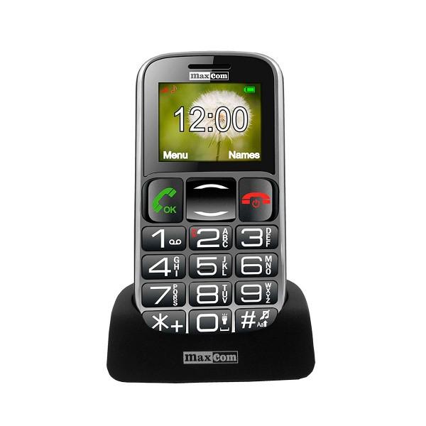 Maxcom mm461 negro móvil senior 1.8'' con bluetooth, teclas grandes y botón sos