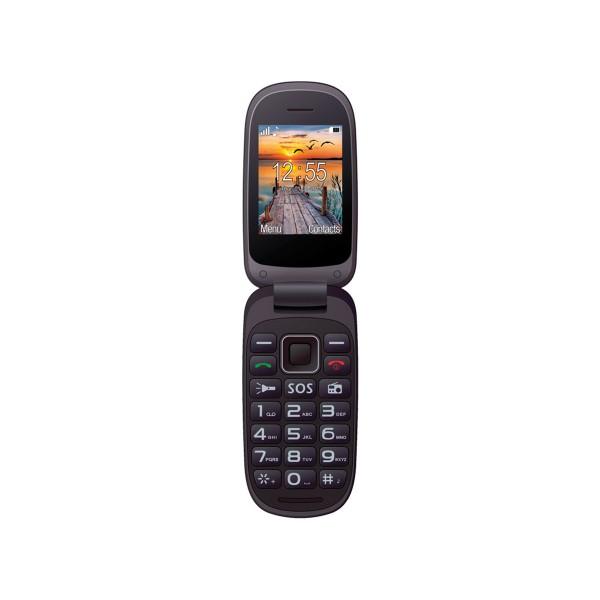 Maxcom mm818 negro azul móvil senior dual sim tipo concha 2.4'' cámara botón sos radio fm ranura microsd