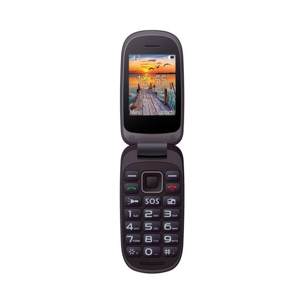 Maxcom mm818 negro móvil senior dual sim tipo concha 2.4'' cámara botón sos radio fm ranura microsd