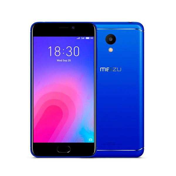 Meizu m6 azul móvil 4g dual sim 5.2'' ips hd/8core/16gb/2gb ram/13mp/8mp