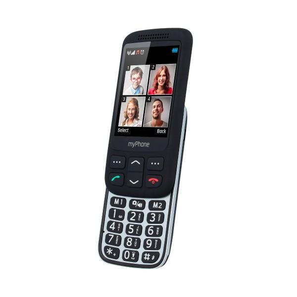 Myphone halo s negro móvil senior 2.8'' cámara vga bluetooth microsd botón sos base de carga