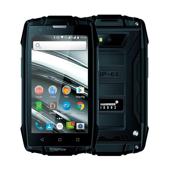Myphone hammer iron 2 negro móvil todoterreno dual sim 4'' ips/4core/8gb/1gb ram/5mp/2mp