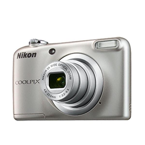 Nikon coolpix a10 plata cámara compacta 16.1mp zoom óptico 5x con estuche de regalo