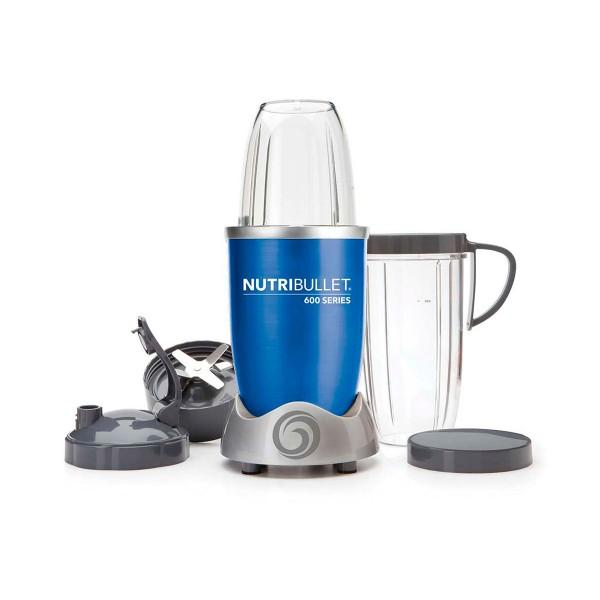 Nutribullet nbr-0928 azul metalizado extractor de nutrientes 600w potencia vaso de 900ml cuchilla extractora de acero inoxidable