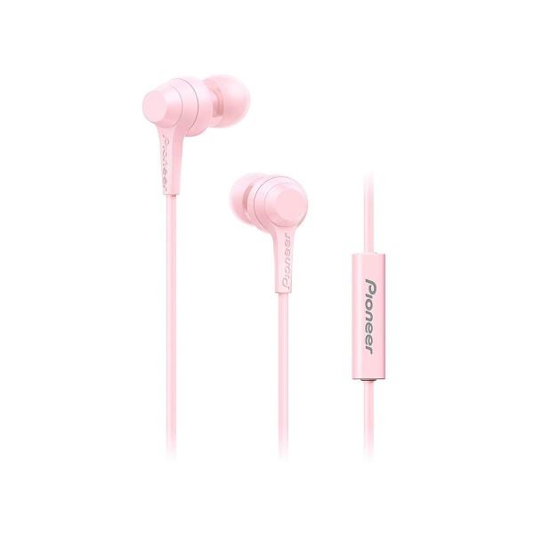 Pioneer se-c1t rosa auriculares con micrófono de alta calidad