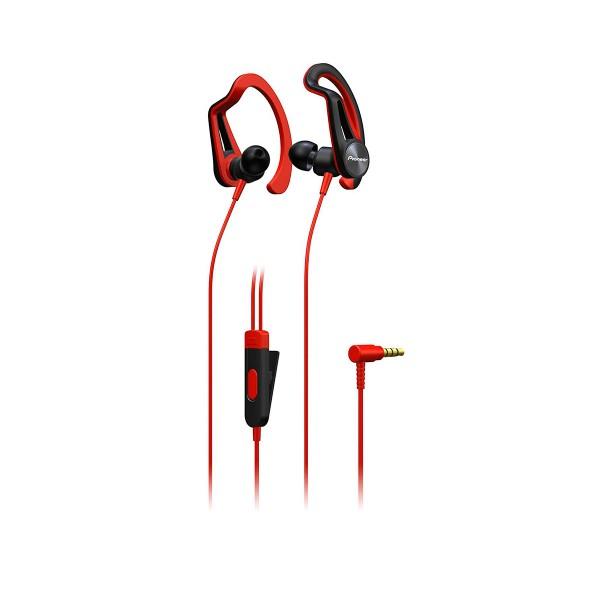 Pioneer se-e5t rojo auriculares con micrófono diseño en 2 versiones ipx4