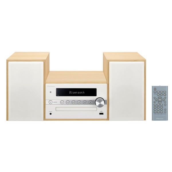Pioneer x-cm56 blanco diseño en madera sistema de audio hi-fi bluetooth nfc reproductor usb cd radio fm y am