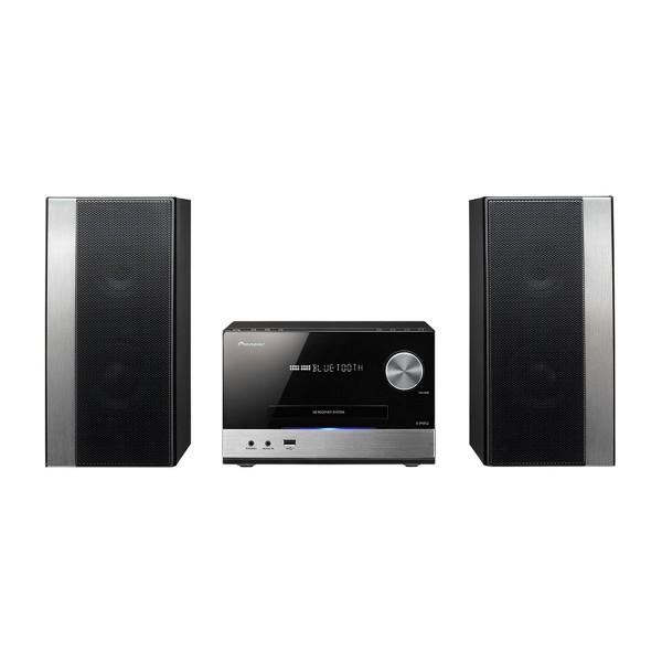 Pioneer x-pm12 negro sistema de sonido hi-fi 2x38w de alta potencia bluetooth reproductor usb cd radio fm