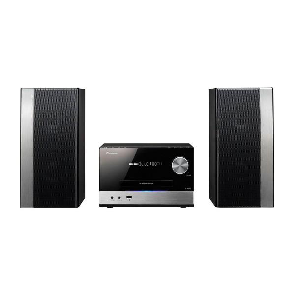 Pioneer x-pm32 negro sistema de sonido hi-fi 2x75w de alta potencia bluetooth reproductor usb cd radio fm