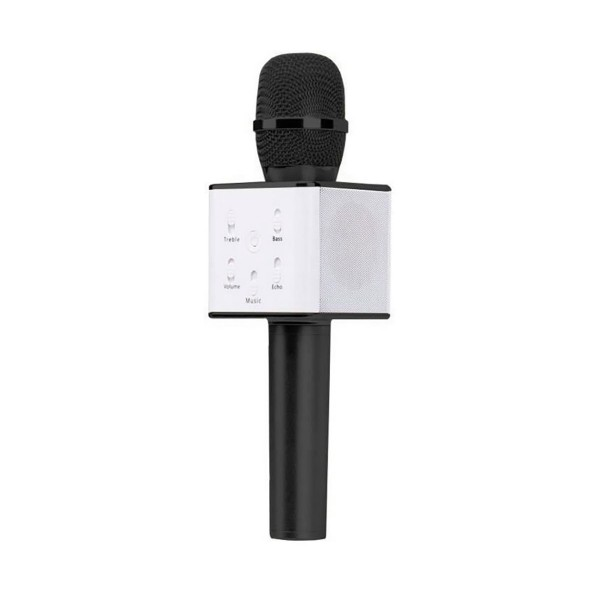 Ryval micro karaoke negro micrófono inalámbrico karaoke bluetooth usb 6w incluye funda de transporte