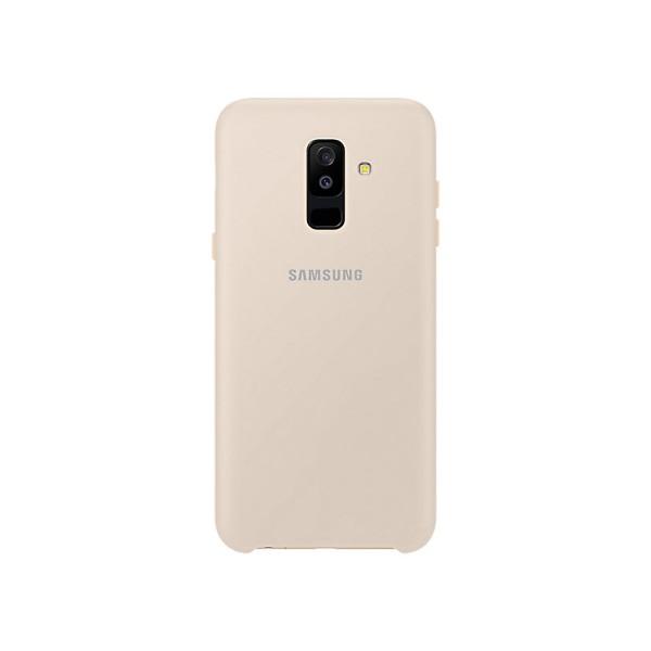 Samsung dual layer cover dorado carcasa samsung galaxy a6+ (2018)