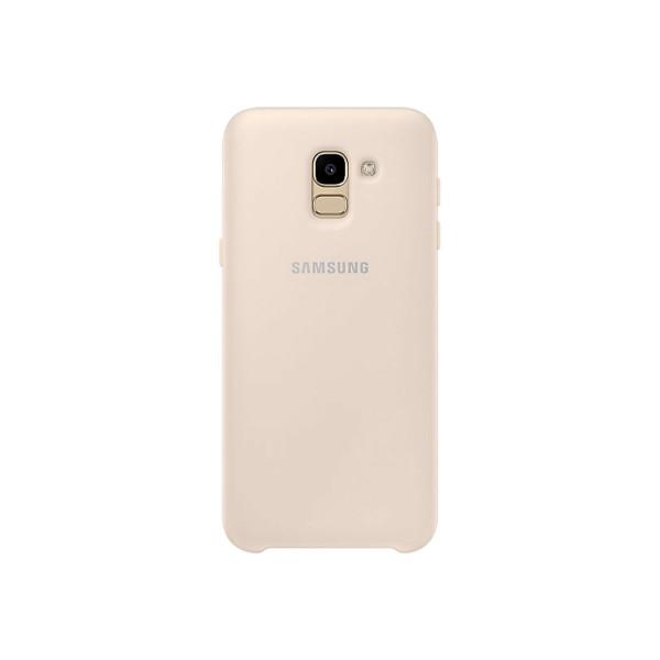Samsung dual layer cover dorado carcasa samsung galaxy j6 (2018)