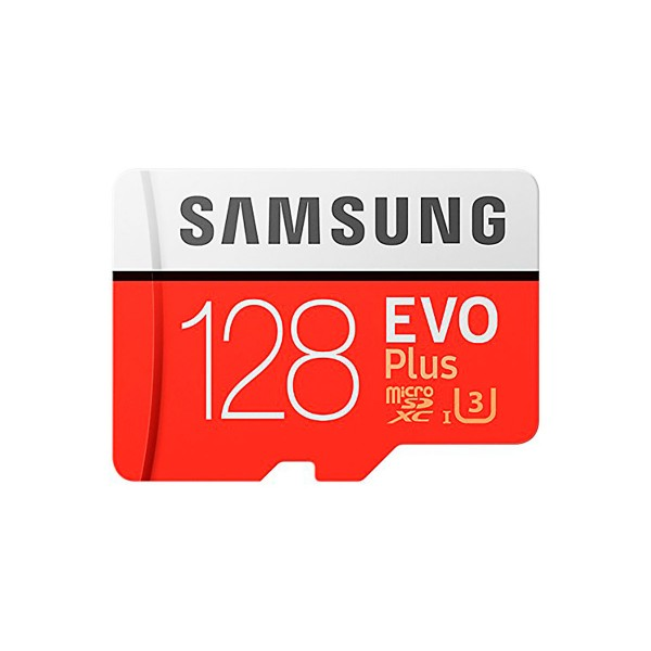 Samsung evo plus tarjeta de memoria microsd 128gb de capacidad 100mb/s con adaptador sd