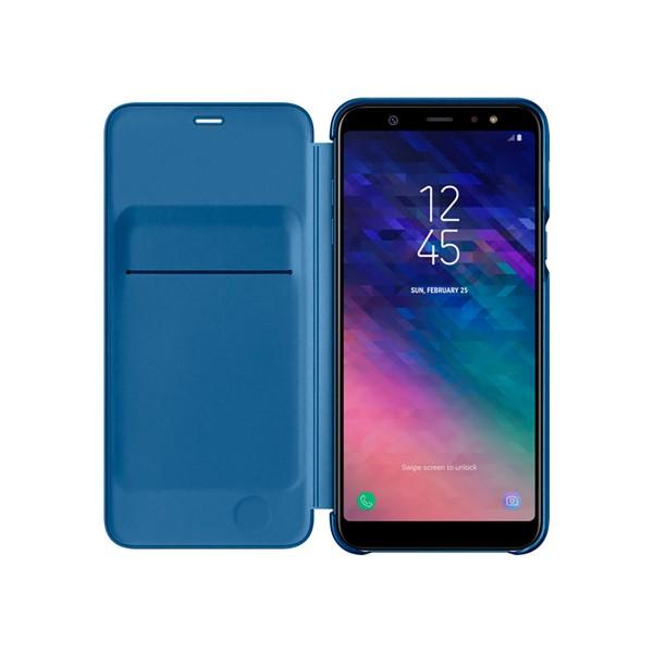 Samsung wallet cover azul funda samsung galaxy a6+ (2018)