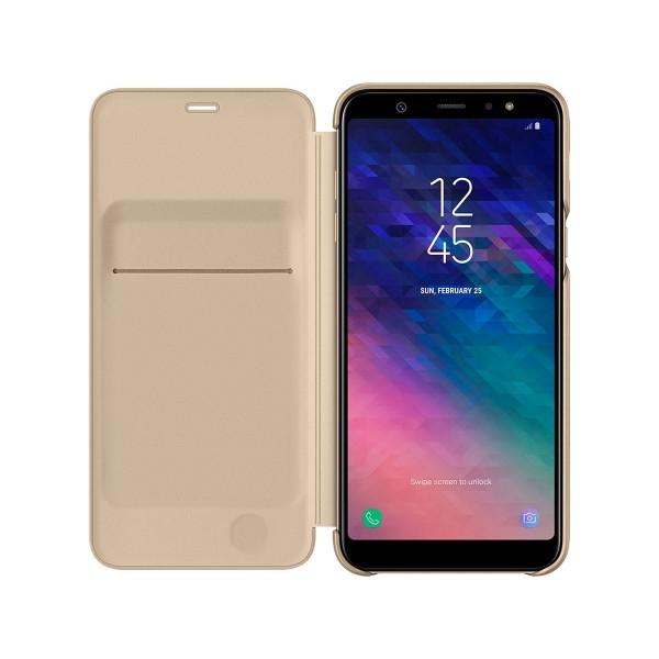 Samsung wallet cover dorado funda samsung galaxy a6+ (2018)