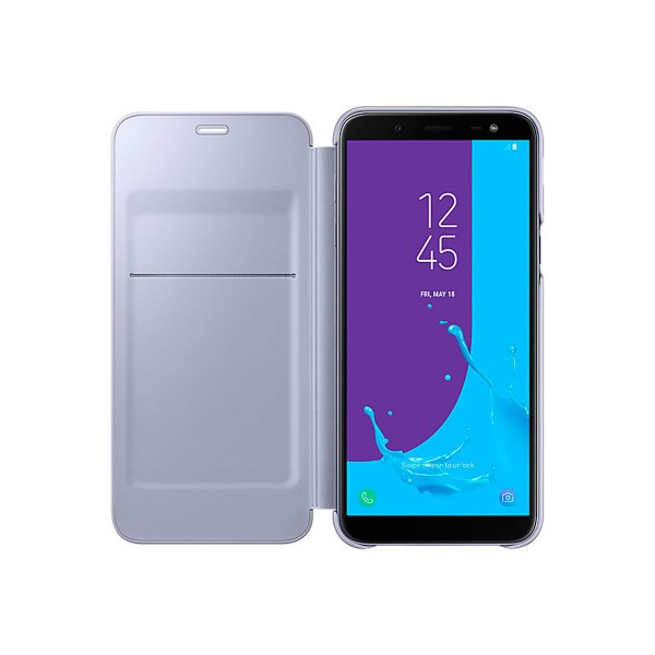Samsung wallet cover violeta funda samsung galaxy j6 (2018)