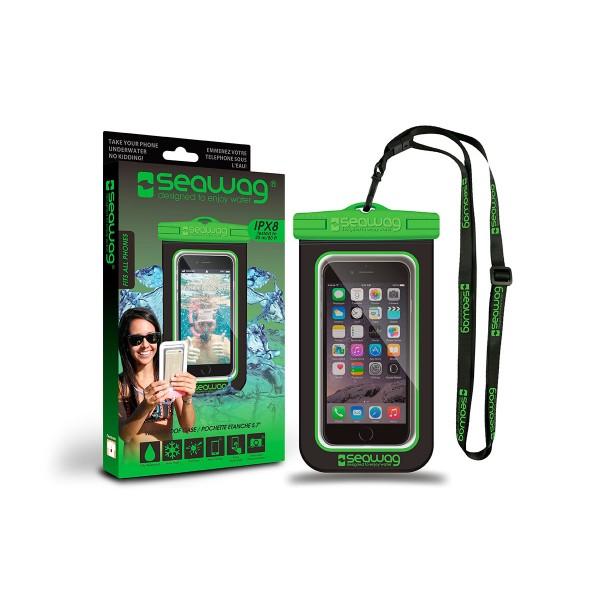 Seawag p171030 negro/verde funda acuática ipx8 sumergible 25m para smartphone