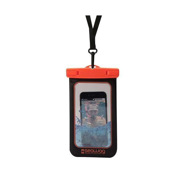 Seawag p171035 negro/naranja funda acuática ipx8 sumergible 25m para smartphone
