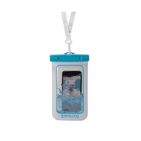 Seawag p171045 blanco/azul funda acuática ipx8 sumergible 25m para smartphone