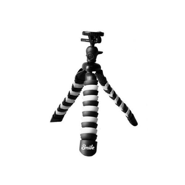 Smile mini trípode negro con patas de goma flexibles ideal para cámaras