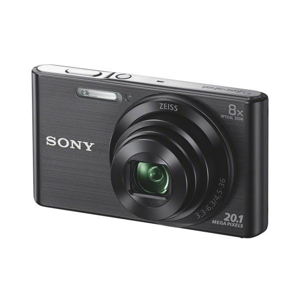 Sony dscw830b cámara de fotos 20.1 mp zoom 8x negra