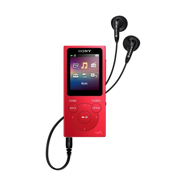 Sony nwe394r rojo reproductor mp3 con pantalla de 1.77''