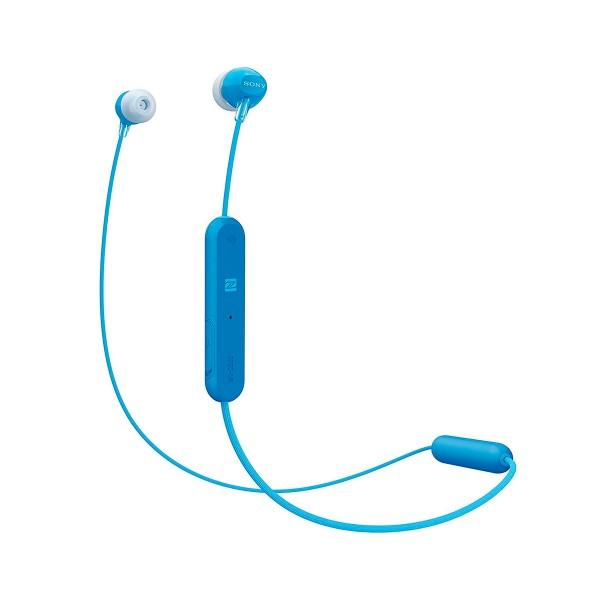 Sony wi-c300 azul auriculares inalámbricos bluetooth nfc micrófono integrado con función manos libres