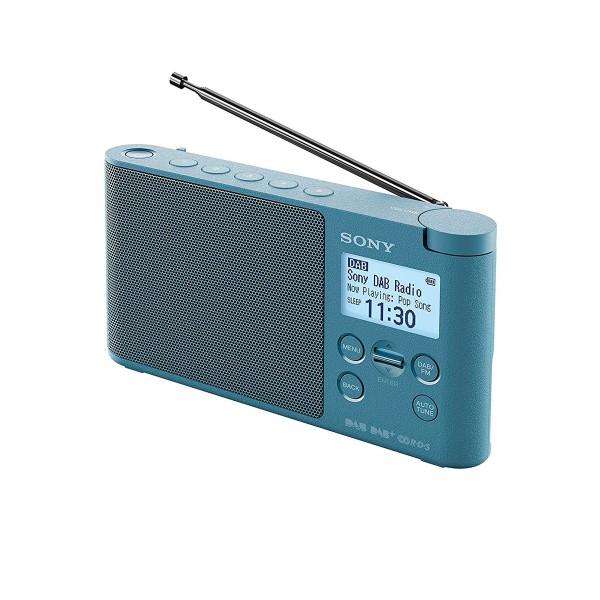 Sony xdr-s41d azul radio dab/dab+ portátil con pantalla lcd presintonías directas temporizador de apagado