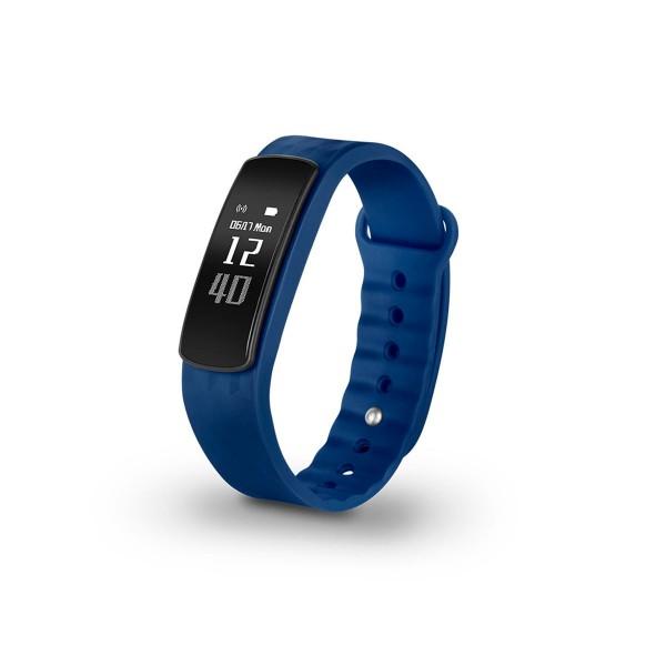 Spc 9623a smartee active hr azul pulsera monitorizadora con pulsómetro notificaciones de smartphone pantalla oled de 0.96'' recambio rojo