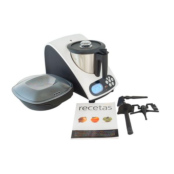 Superchef va1500 cookmix robot de cocina 1000w cocción 500w mezclado 2l capacidad acero inox 11 funciones + pulse