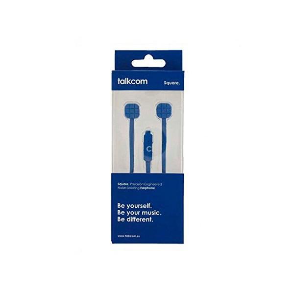 Talkcom square azul auriculares con micrófono