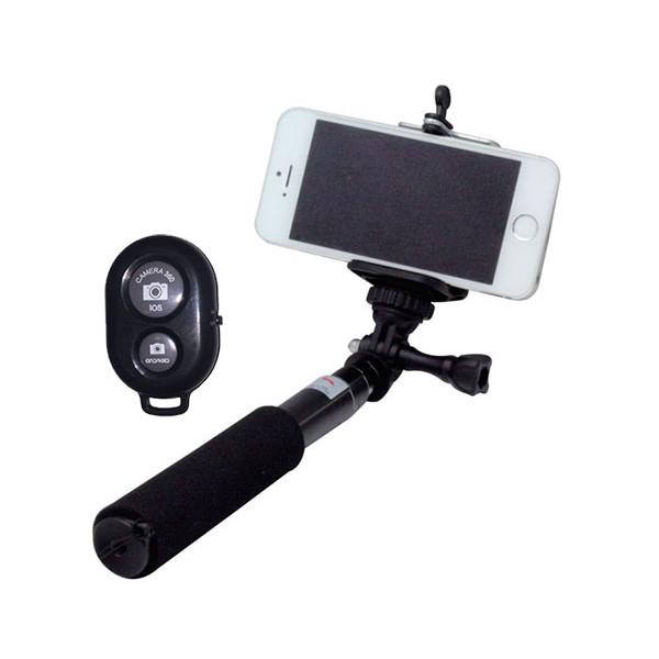 Wesdar selfie monopod negro k-3194i palo de selfies de 60cm + disparador bluetooth