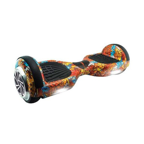 Whinck hoverboard grafitti scooter eléctrico bluetooth 12km/h batería lg 10km autonomía mochila incluida