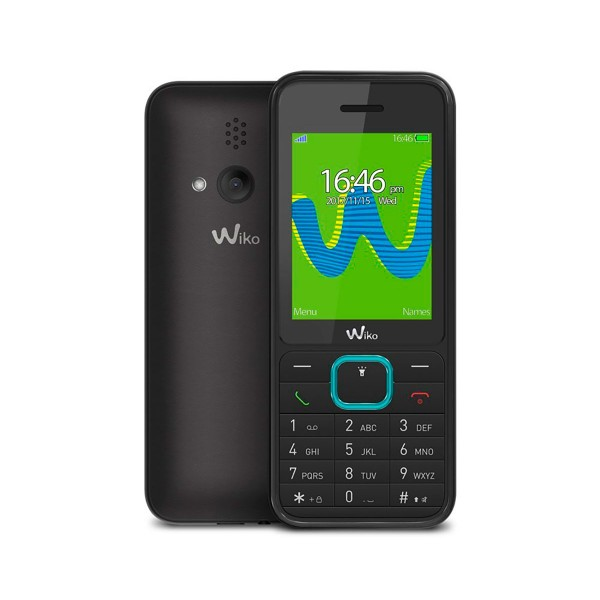 Wiko riff3 negro móvil senior dual sim 2.4'' cámara con flash bluetooth ranura microsd