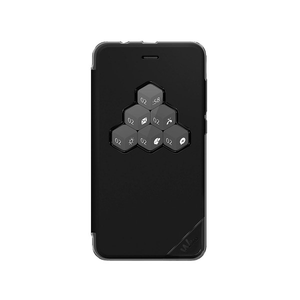 Wiko wicube negro funda con tapa interfaz personalizable wiko lenny4