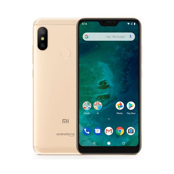 Xiaomi mi a2 lite dorado móvil 4g dual sim 5.84'' ips fhd+/8core/64gb/4gb ram/12mp+5mp/5mp